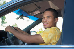 Young Smiling African American Male Driver Royalty Free Stock Photo