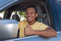 Young Smiling African American Male Driver Stock Photos
