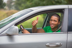 Young Smiling African American Male Driver Stock Images