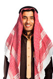 Young smiling arab isolated on white Stock Photos