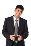 Young Smiling Asian Businessman Stock Photo