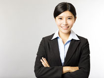 Young smiling asian businesswoman Stock Photography