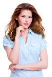 Young smiling attractive woman. Stock Photos