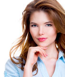 Young smiling attractive woman. Stock Photography
