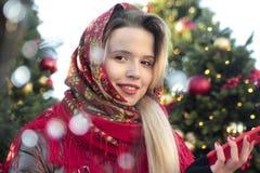 Young smiling beautiful Russian girl stock image