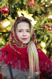 Young smiling beautiful Russian girl royalty free stock photography