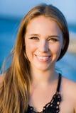 Young smiling beautiful woman Stock Photo