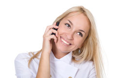 Young smiling beautiful woman-nurse Stock Photography
