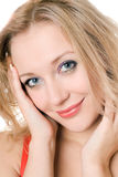 Young smiling blond woman Royalty Free Stock Photography