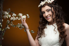 Elegant spring girl Royalty Free Stock Photo