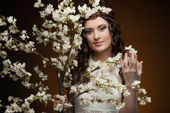 Elegant spring girl Royalty Free Stock Photography