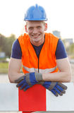 Young smiling builder Royalty Free Stock Photography