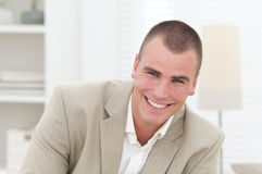Young smiling business man Royalty Free Stock Images