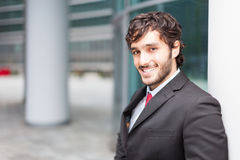 Young smiling business man Stock Photo