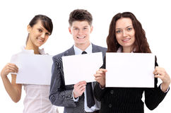 Young smiling business people. Royalty Free Stock Images