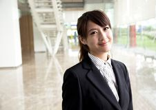 Young and smiling business woman Stock Photo