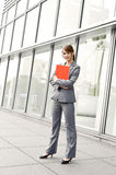 Young smiling business woman Stock Photos