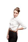 Young smiling business woman Stock Photography