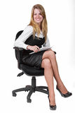 Young smiling business woman Royalty Free Stock Photography