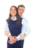 Young Smiling Business Woman And Business Man Stock Images