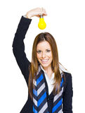 Young Smiling Business Woman With Creative Idea Stock Photos