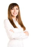 Young smiling business woman with crossed arms Stock Image