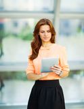 Young smiling business woman Royalty Free Stock Images