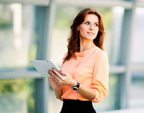 Young smiling business woman Stock Images
