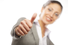 Young smiling business woman Stock Image