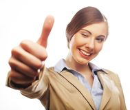 Young smiling business woman Royalty Free Stock Image