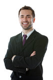 Young smiling businessman Stock Photography
