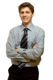 Young smiling businessman Royalty Free Stock Image