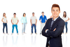 Young smiling businessman Stock Image