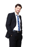Young smiling businessman Stock Photos