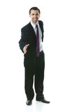 Young smiling businessman ready to shake hands Stock Images