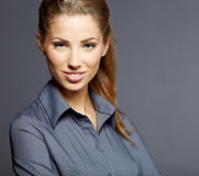 Young smiling businesswoman Stock Photo