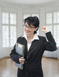 Young smiling businesswoman Stock Photos