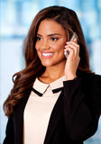 Young smiling businesswoman on call Royalty Free Stock Image