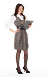 Young smiling businesswoman with clipboard Royalty Free Stock Photography