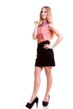 Young smiling businesswoman full body Stock Photos