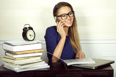 Young smiling businesswoman. Royalty Free Stock Photography