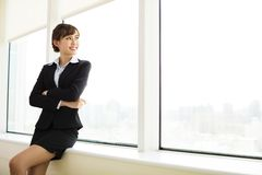 Young smiling  businesswoman Stock Image