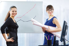 Young Smiling Businesswomen Stock Photos