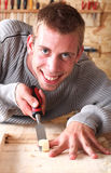 Young smiling carpenter Stock Images
