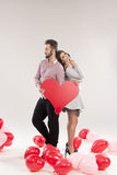 Young smiling caucasian couple Royalty Free Stock Images
