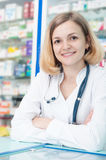 Young smiling chemist Royalty Free Stock Images