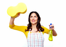 Young smiling cleaner woman. Stock Image