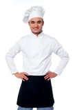 Young smiling confident male chef Royalty Free Stock Image