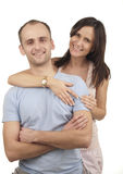 Young smiling couple Royalty Free Stock Photo