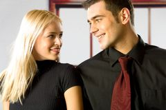 Young smiling couple Stock Photos